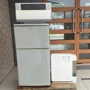 福岡市東区唐原でパソコン・空気清浄機・冷蔵庫の引き取り