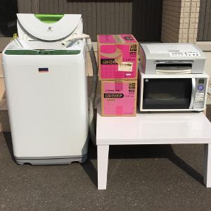 福岡市博多区の不用品回収>電子レンジ・洗濯機・コタツの処分