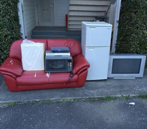 ソファ・テレビ・レンジ・冷蔵庫の処分引き取り>久留米市東櫛原町で不用品回収