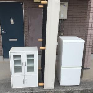 食器棚・ベッドの処分>糸島市波多江の不用品回収