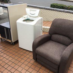 ソファ・洗濯機・事務机の処分例 - 春日市一の谷